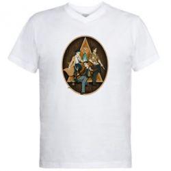 Мужская футболка  с V-образным вырезом Сверхъестественное Арт - FatLine