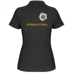 Женская футболка поло Сверхъестественное звезда - FatLine