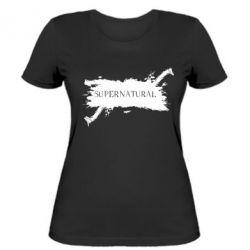 Женская футболка Сверхъестественное - FatLine