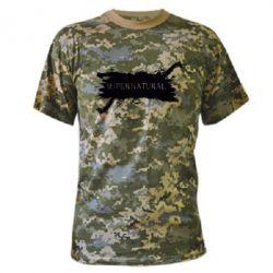 Камуфляжная футболка Сверхъестественное - FatLine