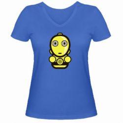 Женская футболка с V-образным вырезом Sweet C-3PO - FatLine