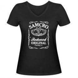 Жіноча футболка з V-подібним вирізом Сини Анархії Samcro - FatLine