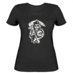 Женская футболка Сыны Анархии - FatLine
