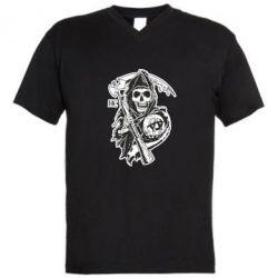 Мужская футболка  с V-образным вырезом Сыны Анархии - FatLine