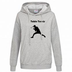 Женская толстовка Table Tennis Logo