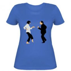 Женская футболка Танец Криминальное Чтиво - FatLine