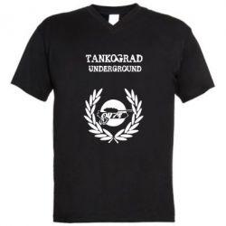 Мужская футболка  с V-образным вырезом Tankograd Underground