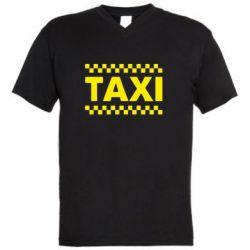 Чоловічі футболки з V-подібним вирізом TAXI - FatLine