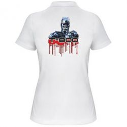 Женская футболка поло Терминатор Т-800