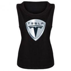 Женская майка Tesla Corp - FatLine