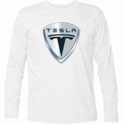 Футболка с длинным рукавом Tesla Corp - FatLine
