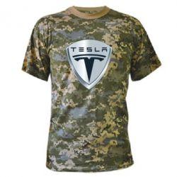 Камуфляжная футболка Tesla Corp - FatLine