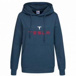 Женская толстовка Tesla