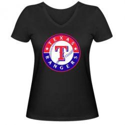 Женская футболка с V-образным вырезом Texas Rangers - FatLine