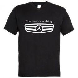 Мужская футболка  с V-образным вырезом The best or nothing