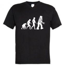 Мужская футболка  с V-образным вырезом The Bing Bang theory Evolution - FatLine