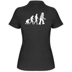 Женская футболка поло The Bing Bang theory Evolution - FatLine