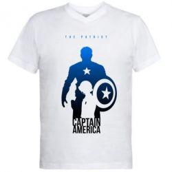 Мужская футболка  с V-образным вырезом The Patriot - FatLine