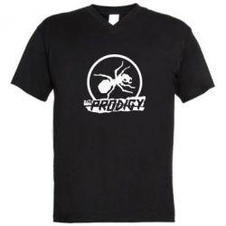 Мужская футболка  с V-образным вырезом The Prodigy муравей - FatLine
