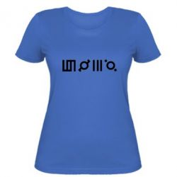 Женская футболка Thirty seconds to Mars Glyphs