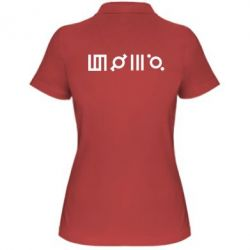 Женская футболка поло Thirty seconds to Mars Glyphs
