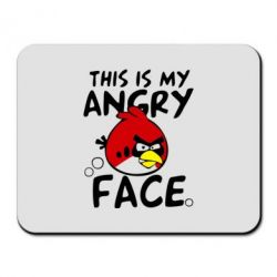 Коврик для мыши This is my angry face - FatLine