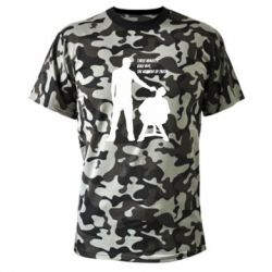 Камуфляжная футболка Three minutes.