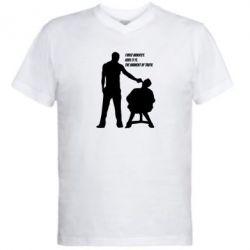 Мужская футболка  с V-образным вырезом Three minutes.
