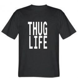 Мужская футболка thug life - FatLine