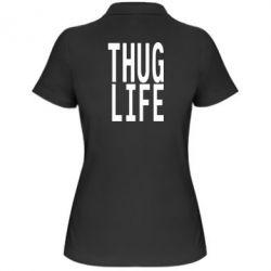Женская футболка поло thug life - FatLine