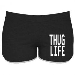 Женские шорты thug life - FatLine