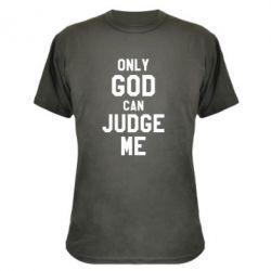 Камуфляжная футболка Только Бог может судить меня