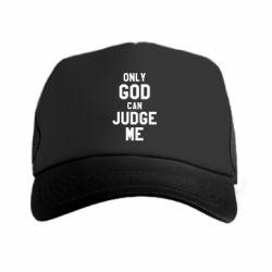 Кепка-тракер Только Бог может судить меня