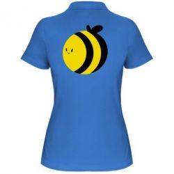 Женская футболка поло толстая пчелка - FatLine