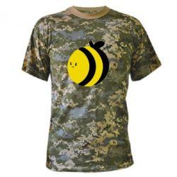 Камуфляжная футболка толстая пчелка - FatLine