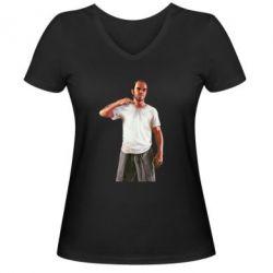 Женская футболка с V-образным вырезом Trevor