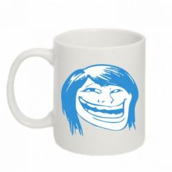 Кружка 320ml Trollface girl