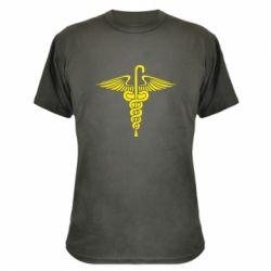Камуфляжная футболка Трость Доктора Хауса - FatLine