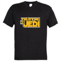 Мужская футболка  с V-образным вырезом Trust me, I'm a Jedi - FatLine