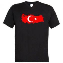 Мужская футболка  с V-образным вырезом Turkey - FatLine