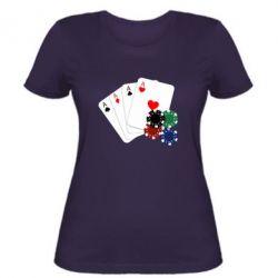 Женская футболка Тузы - FatLine