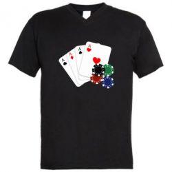 Мужская футболка  с V-образным вырезом Тузы
