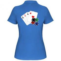 Женская футболка поло Тузы - FatLine