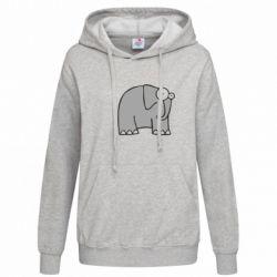 Женская толстовка удивленный слон - FatLine