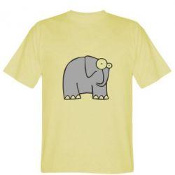 Мужская футболка здивований слон - FatLine