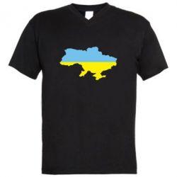 Мужская футболка  с V-образным вырезом Украина - FatLine