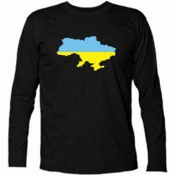 Футболка с длинным рукавом Украина - FatLine