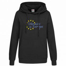 Женская толстовка Ukraine in Europe - FatLine