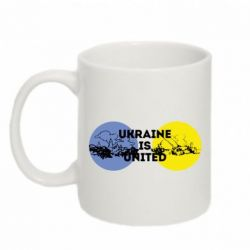 Кружка 320ml Ukraine is united - FatLine