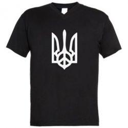 Мужская футболка  с V-образным вырезом Ukraine Peace - FatLine